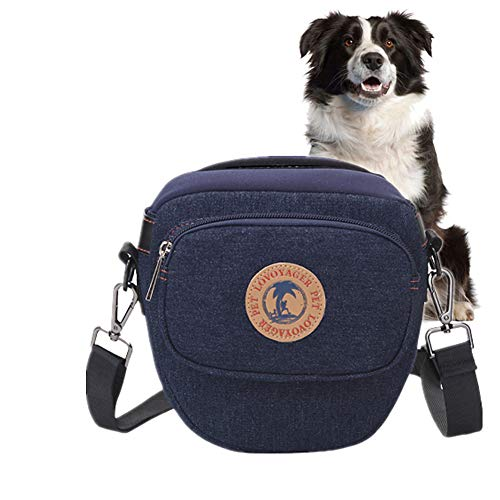 Xinllm Futterbeutel Hunde Futtertasche Hund Hundesnack Tasche Verstellbarer Gürtel Dog Treat Bags Hundegehzubehör Hundetraining Treat Bag