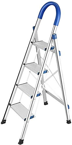Escalera plegable, escalera de mano cuatro, escalera plegable portátil, hogar paso cocina, que se extiende banquetas, escaleras multifunción,A