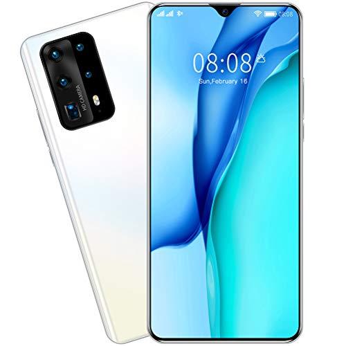 ZXYSR P41pro Smartphone Android, 7,0 Zoll Wassertropfen Sieb MTK6799 Prozessor 8 GB + 128 GB Simlockfreie Handys 4800Mah Batterie 13MP + 24MP Pixel, Handy,Weiß