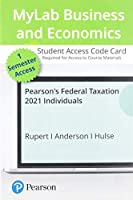 Pearson's Federal Taxation 2021 Mylab Accounting With Pearson Etext Access Card: Individuals