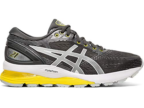 ASICS Women's Gel-Nimbus 21 Running Shoes, 7.5M, Dark Grey/MID Grey