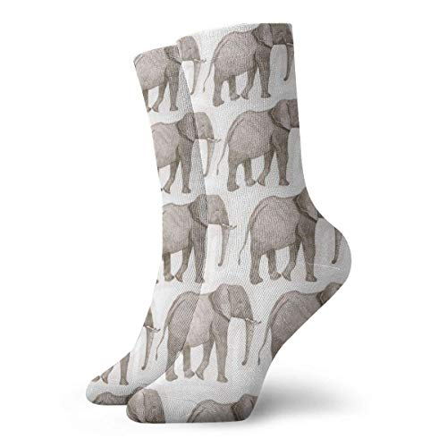 Warm-Breeze Elephant Print Compression Socks Unisex Socks Fun Fun Crew Socks Thin Socks Short Ankle For Outdoor Athletic Moisture Wicking