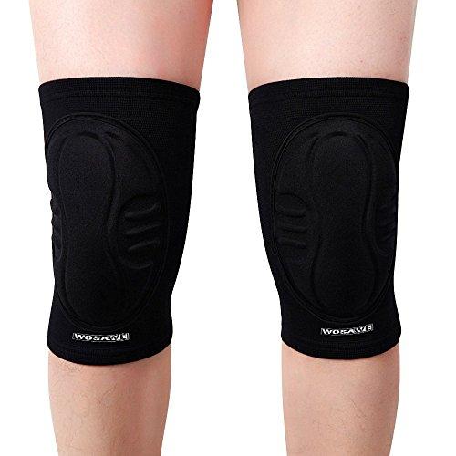 WOSAWE Snowboard Knieschoner Kneepad Displayschutzfolie - Superior Schutz Knie Pads für Wrestling, Volleyball, Hockey, Skaten, Skifahren und Radfahren (1 Paar)