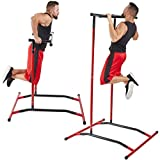 DSVF Pull Up Bar Free-Standing Multi-fuction Dip Station, Chin up Portable Power Tower Home Gym Fitness Strength Training Equipment,Suitable for Both Men and Women