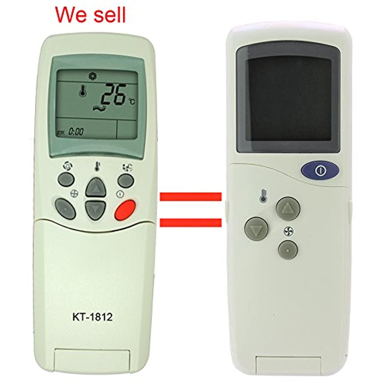 KT-1812 Replacement for LG Air Conditioner Remote Control Model Number 6711AR2905B Works for HMH012KD HMH018KD HMH024KD HMH030KD