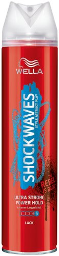 WELLA Shockwaves Power Hold Lack ultra strong (1 x 250 ml)