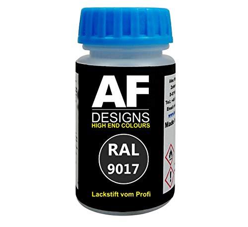 Alex Flittner Designs Lackstift RAL 9017 VERKEHRSSCHWARZ seidenmatt 50ml schnelltrocknend Acryl