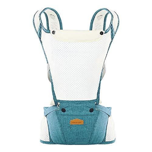 Riñonera portabebés - Ergonómica - Mochila - Mochila - Ligera - Transpirable - Primera Infancia - Niño - Bebé - Color Azul