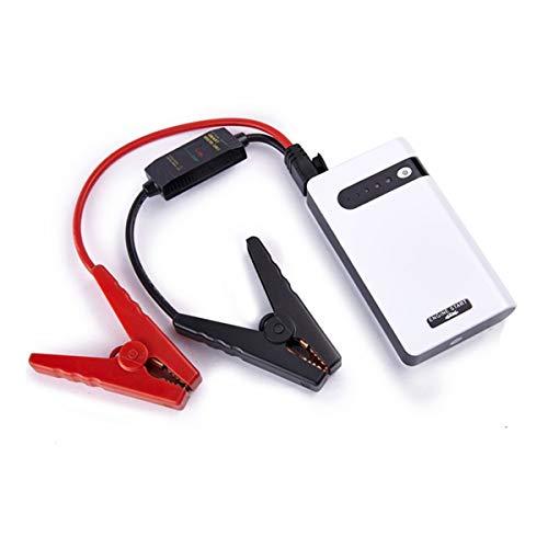 PPGE Home Arrancador de Baterias de Coche Diesel Gasolina Arrancador Bateria Coche 12v Portátil Batería de Emergencia con Pinzas luz LED y Puertos USB 30000mAh