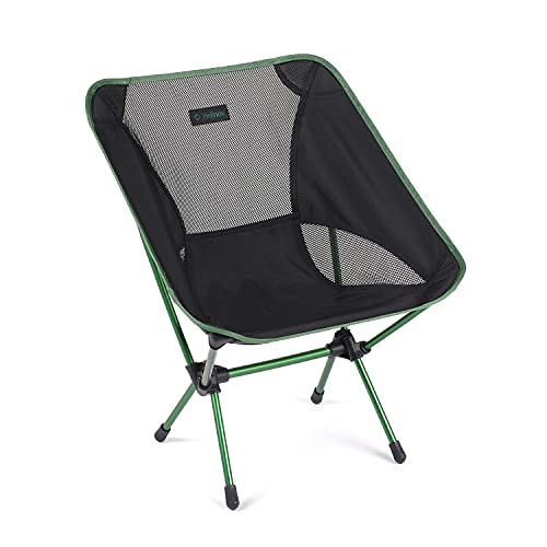 Helinox Chair One Original Lightweight, Compact, Collapsible Camping Chair, Black/Green