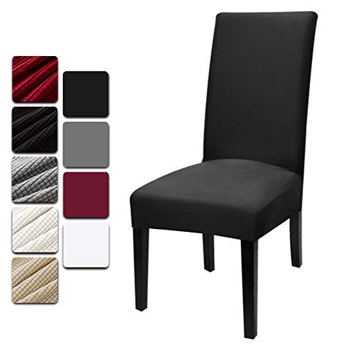 Dioxide Fundas para Sillas Pack de 4 Fundas Sillas Comedor, Fundas Elásticas Chair Covers Lavables