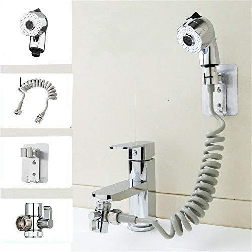 Verstellbares Waschbecken Wasserhahn Sprühset - Handbrause Quick Connect Waschbecken Abnehmbare Schlauchspray Handbrause zum Waschen der Haare, Haustierbad