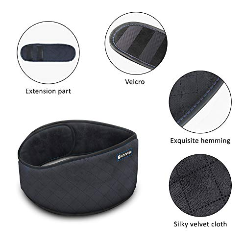 Comfier Heating Belt for Back Pain - Heated Back Warmer Massage Belt Wrap with Vibration Massage, Fast Heating Pad Auto Shut Off, for Lumbar, Abdominal, Lower Back Cramps Arthritic Pain Relief