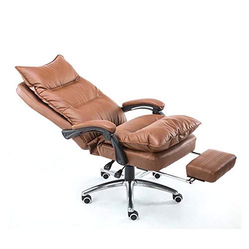JINPENGRAN Altura Ajustable Silla de Oficina Grande de Videojuegos para sillas de Respaldo Alto Cuero de la PU del diseño del Juego de Ordenador Silla de Oficina ergonómica Silla Moderna
