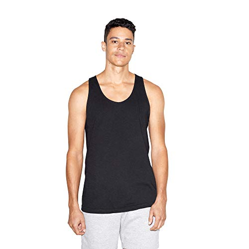 American Apparel Men's Fine Jersey Sleeveless Tank, Black, X-Small