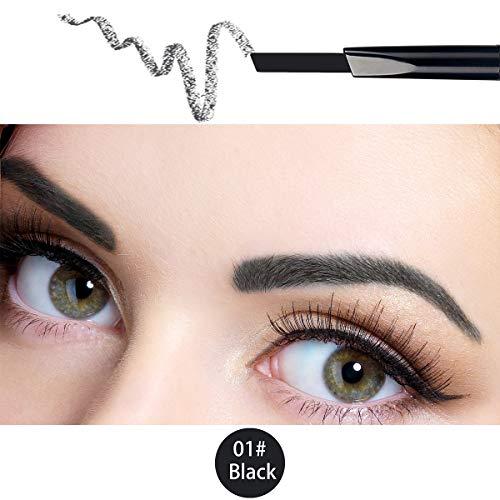 ANIFER Augenbrauenstift Schwarz Wasserdichtes, automatisch einziehbares, langlebiges Make-up mit zwei Enden (schwarz/Black# 1)