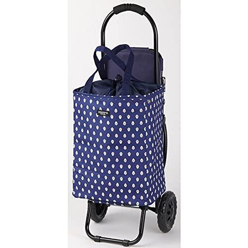 レップ(REP) ココロ(COCORO) ショッピングカート 折りたたみ 椅子付き 容量22L 保冷 保温 買い物 レネ 510018 ネイビー