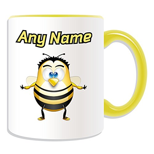 UNIGIFT Gepersonaliseerd geschenk - Bijenmok (Penguin Animal Costume Design Kleur) Naam Bericht Unieke Silly Grappige Nieuwigheid Wesp Bumblebee Bloem Honing Bumble Buzz Pollen Nectar