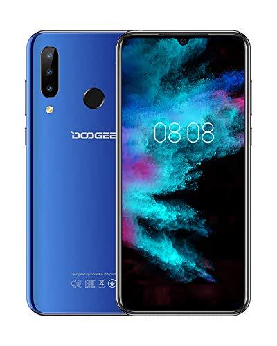 DOOGEE N20 (2019) SIM Móvil Libres, Helio P23 Octa-Core 4GB RAM 64GB ROM, 6.3 Pulgadas FHD + Waterdrop Pantalla Android 9.0 4G Smartphone, 16MP + 8MP + 8MP + 16MP, 4350mAh, 10W Carga Rápida Azul