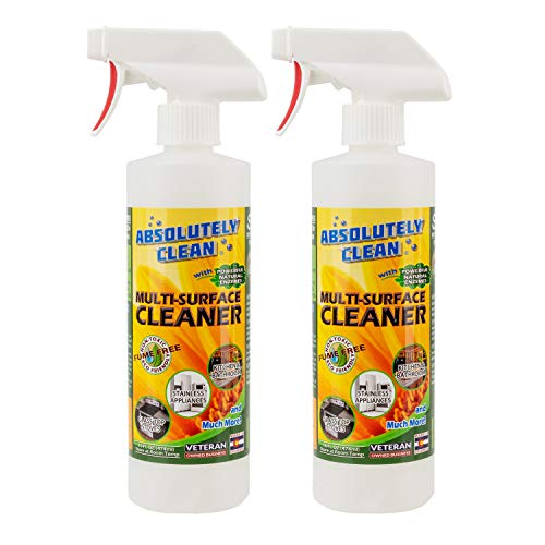 Natural Based Multi-Purpose Household Cleaner, Powerful, Natural Enzymes Make Cleaning Easy - USA Made (2pack 16oz Spray Bottle)