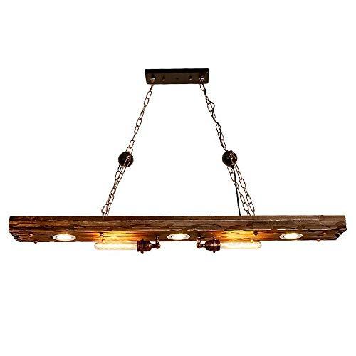 Boerderij verlichting Verontrustende houten balk Rustieke Kroonluchter Light Fixture - Inbouw Houten Balk Plafond Licht Fixture (5 Light) - Geweldig voor Keuken Eiland verlichting, Bar, Industriële, Biljart, een