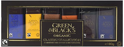 Green & Black's Organic Classic Miniature Chocolate Bar Collection, 12 x 15 g (Pack of 2)