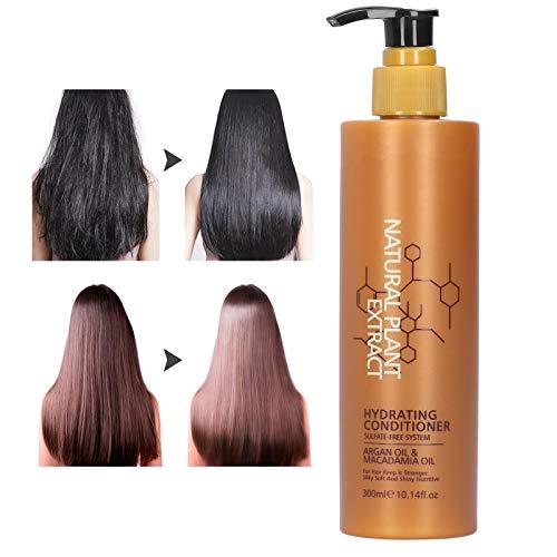 Acondicionador para el cabello Aceite de argán, Hidratante e hidratante Anticaspa Nutritivo Limpieza profunda y control de la grasa, Mejora el encrespamiento Suaviza el cabello
