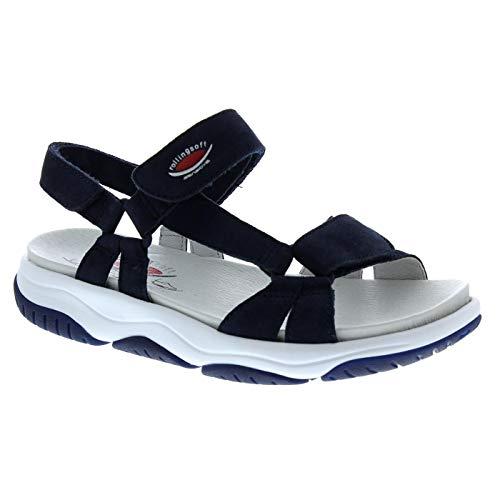 Gabor Rollingsoft Sandaletten in Übergrößen Blau 26.928.36 große Damenschuhe, Größe:42.5