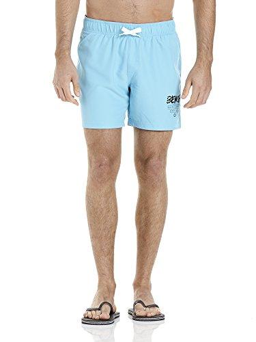 Bench Herren Corp Swim Short Badeshorts, Türkis (Bright Turquoise BL045), Small