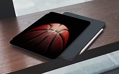 Funda para iPad 10.2 Pulgadas,2019/2020 Modelo, 7ª / 8ª generación,Naranja Cuatro canastas Competencia Perder pista Agarre Baloncesto Deportes Recreaci Smart Leather Stand Cover with Auto Wake/Sleep