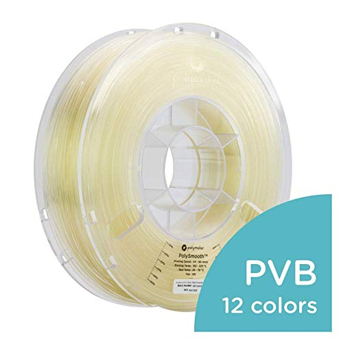 Polymaker PolySmooth 3D Printer Filament, Layer-Free 3D Filament, Transparent, 1.75 mm Filament, 750g 3D Printing Filament