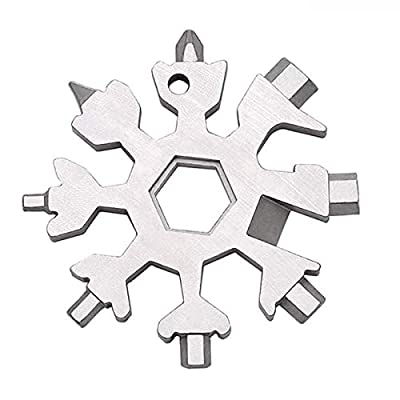 Amazon - 50% Off on 18-in-1 Snowflake Multi-Tool, Stainless Steel Screwdriver Opener Combination