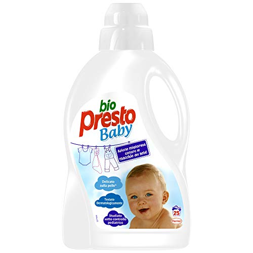 Bio Presto Liquido Baby, Detersivo Lavatrice Delicato Per Bimbi, 25 Lavaggi, 1500ml