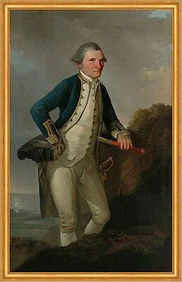 Kunstdruck Portrait of Captain James Cook Webber 02687 - Figura de navegador (enmarcado)