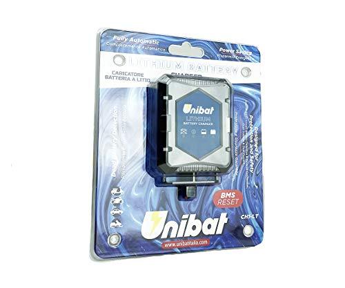 Carica Batterie al Litio Unibat specifico per Moto Auto Barche Quad - Funzione BMS Reset