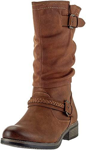 Rieker Damen 98860 Hohe Stiefel, Braun (Nuss 22), 39 EU