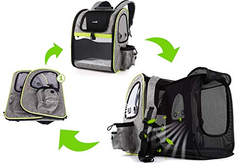 Pecute Pet Carrier Expandable For Hiking