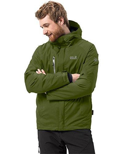 Jack Wolfskin Herren TROPOSPHERE Men Winterwanderjacke Wasserdicht Winddicht Atmungsaktiv Wetterschutzjacke, Cypress grün, XXL