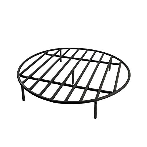 Great Deal! Hi-Flame Round Fire Pit Grate - Firewood Grate with Five Adjustable Legs for Outdoor Fir...