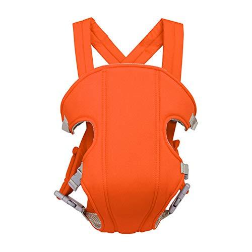 Portabebes,Sunzit Portabebes Ergonómico Transpirable Ajustable Cómodo Algodón Mochila Portabebés Multifuncional Mejorado Ligero Seguro Resistente a los Golpes - Naranja