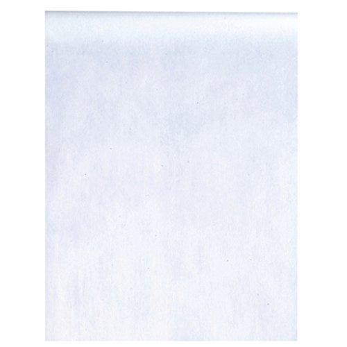 Vlies-Stoff 30cm (25m lang) Tischläufer Deko-Vlies Party Hochzeits-Dekoration (weiß)