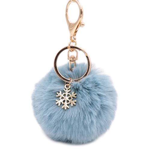 Jingyuu Schlüsselanhänger für Damen, Bommel, Dekoration, Anhänger für Autoschlüssel/Telefon/Rucksack/Handtasche/Auto/Schlüsselanhänger (Wapiti) 8 cm blau