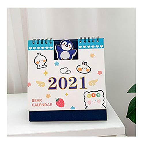 lejia 2021 Calendario de Escritorio Papel de Escritorio del Calendario Diario Notebook Programador Tabla Planificador Anual del Orden del día Oficina Suministros Organizador (Color : 04)