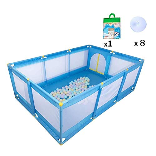 YouYou-YC Baby Playpen Kids hek veiligheid beschermend hek grote ruimte stabiel niet gemakkelijk over te rollen met een kruipmat, 2