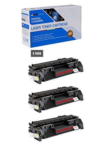 Inksters Compatible Toner Cartridge Replacement for HP 80X CF280X Black - Compatible with Laserjet Pro 400 M401A M401D M401DN M401DW M401N M425DN M425DW (3 Pack)
