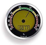 Cigar Oasis Caliber 4R Silver Digital/Analog Hygrometer by Western Humidor