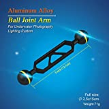 "Sea Frogs 5"" Double 1"" Ball Arm for Connecting Strobe/Video Light to Underwater Housing -"