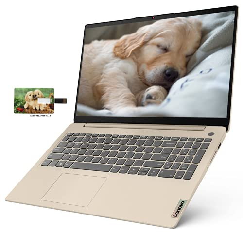 "Newest Lenovo IdeaPad 3 15 Business Laptop Computer, AMD Ryzen 5 5500U, 15.6"" FHD Display, 12GB RAM, 256GB SSD, Wi-Fi, Bluetooth 5, Webcam, Audio, Windows 10 Pro   32GB Tela USB Card"