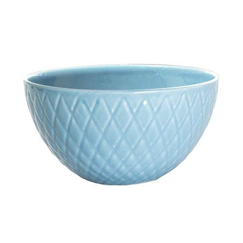 - saladier en faience diamon 28 cm bleu