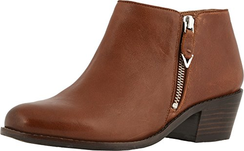 Vionic Women's Joy Jolene Ankle Boot - Ladies Booties with Concealed Orthotic Arch Support Mocha 8.5 M US